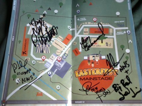 My Eastefest Program Guide. It's only been signed by the boys from Newworldson, innit! Thanks John for getting it for me!